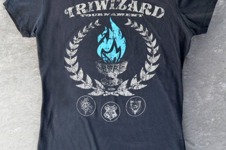 Harry Potter Shirt TriWizard Tournament & The Goblet of Fire! Women's Fitted Tee