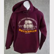 Harry Potter Sweatshirt, Butterbeer At The Three Broomsticks Unisex Maroon Hoodi