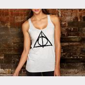 Harry Potter Deathly Hallows Tank Top Hogwarts Women's Racerback