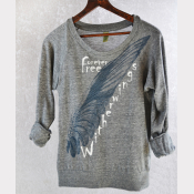 Harry Potter Shirt, Slouchy Pullover, Buckbeak, Now WITHERWINGS, Forever Free