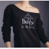 Dobby Slouchy Sweatshirt. Harry Potter Off-The-Shoulder Sweater, Black w/Silver