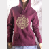Gryffindor Fitted Hoodie Harry Potter Unisex Sweatshirt. Gold Ink on Maroon