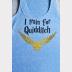 Quidditch Racerback Harry Potter Tank Top - XSmall thru 2XLarge Sizes. Blue
