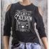 Cold Shoulder Leaky Cauldron Shirt 3/4 Sleeve Harry Potter Top. Heather Black