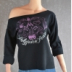 Example of FLASHDANCE style sweatshirt
