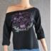 Example of FLASHDANCE style sweatshirt