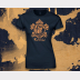 Ravenclaw Harry Potter Women's Stretchy Fitted Tee. Navy with Bronze Ink