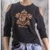 Cold Shoulder Ravenclaw Shirt 3/4 Sleeve Harry Potter Top. Bronze Ink on Black