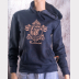 Ravenclaw Fitted Hoodie Harry Potter Unisex Sweatshirt. Bronze Ink on Navy