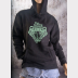 Slytherin Fitted Hoodie Harry Potter Unisex Sweatshirt. Green Ink on Black