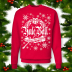 Harry Potter Ugly Xmas Sweater TriWizard Tournament Yule Ball at Hogwarts! Red
