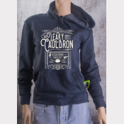 Leaky Cauldron Fitted Hoodie Harry Potter Unisex Sweatshirt. White Ink on Navy