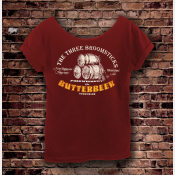 Butterbeer Harry Potter Shirt, Women's Off The Shoulder Slouchy Tee. Scarlet