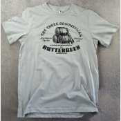Butterbeer Unisex Harry Potter Tshirt. Three Broomsticks at Hogsmeade! Silver