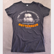 BUTTERBEER Harry Potter Shirt. Women's Stretchy Fitted Tee. Charcoal Grey