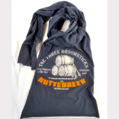 Butterbeer Harry Potter Scarf. Unisex Charcoal Grey Long Jersey Scarf