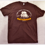 Butterbeer Unisex Harry Potter Tshirt. The Three Broomsticks! Dark Brown Tee