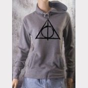 Deathly Hallows Fitted Hoodie Harry Potter Unisex Sweatshirt. Ultrasoft Fleece