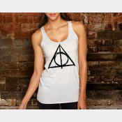 Deathly Hallows Racerback Harry Potter Tank Top