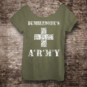 Dumbledore's Army Harry Potter Shirt, Women's Off The Shoulder Slouchy Tee
