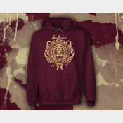 Gryffindor Hoody Harry Potter Sweatshirt. Unisex Maroon Hoodie with Gold Ink