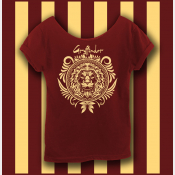 Harry Potter Gryffindor Shirt, Hogwarts Shirt, Women's Off The Shoulder Slouchy