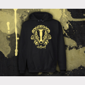 Hufflepuff Hoody Harry Potter Sweatshirt. Unisex Black Hoodie with Yellow Ink