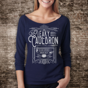 Leaky Cauldron Shirt Off The Shoulder 3/4 Sleeve Slouchy Harry Potter Top