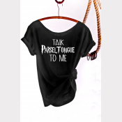 Parseltongue Harry Potter Shirt, Women's Off The Shoulder Slouchy Tee. Black
