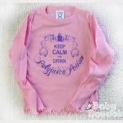 Harry Potter Girls Tshirt, Polyjuice Potion, Long Sleeve Pink Ruffled Tee