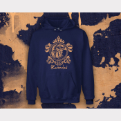 Ravenclaw Hoody Harry Potter Sweatshirt. Unisex Navy Hoodie with Bronze Ink