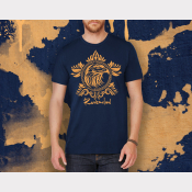 Ravenclaw Shirt Harry Potter Unisex Hogwarts House Shirt. Navy Tee Bronze Ink
