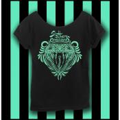 Harry Potter Slytherin Shirt, Hogwarts Shirt, Women's Off The Shoulder Slouchy