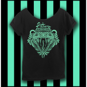 Harry Potter Slytherin Shirt, Hogwarts Shirt, Women's Off The Shoulder Slouchy