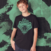 Slytherin Harry Potter Kid's Shirt, Sizes Youth XS-XL Ringspun Cotton