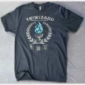 TriWizard Tournament Unisex Tshirt. Harry Potter Charcoal Tee. The Blue Flame!
