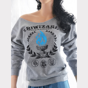 TriWizard Tournament Slouchy Sweatshirt. Off-The-Shoulder Sweatshirt