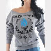 TriWizard Tournament Slouchy Sweatshirt. Off-The-Shoulder Sweatshirt