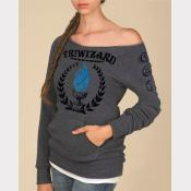 "Triwizard Tournament Women's Sweatshirt. ""Maniac"" Off-The-Shoulder Sweater"