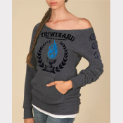 "Triwizard Tournament Women's Sweatshirt. ""Maniac"" Off-The-Shoulder Sweater"