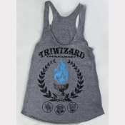 TriWizard Tournament Racerback Harry Potter Tank Top. The Blue Flame!