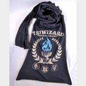 TriWizard Tournament Harry Potter Scarf. Charcoal Grey Unisex Long Jersey Scarf