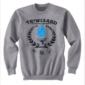 Triwizard Tournament Harry Potter Unisex Crewneck Sweatshirt in Heather Grey