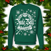 Harry Potter Ugly Xmas Sweater TriWizard Tournament Yule Ball! Forest Green