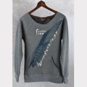 Buckbeak aka Witherwings Women's Maniac Fitted Off-The-Shoulder Fleece Sweater