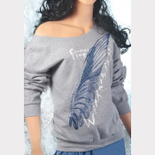 Buckbeak aka Witherwings Slouchy Sweatshirt. Off-The-Shoulder Harry Potter Top