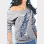 Buckbeak aka Witherwings Slouchy Sweatshirt. Off-The-Shoulder Harry Potter Top